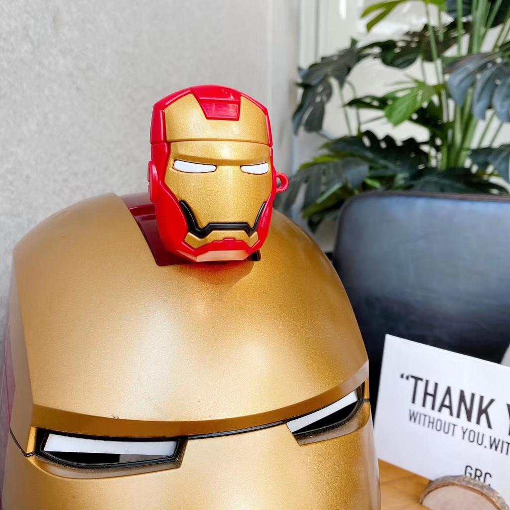 Iron Man 3D - Superhero Cartoon Soft Silicone Case For Apple AirPods