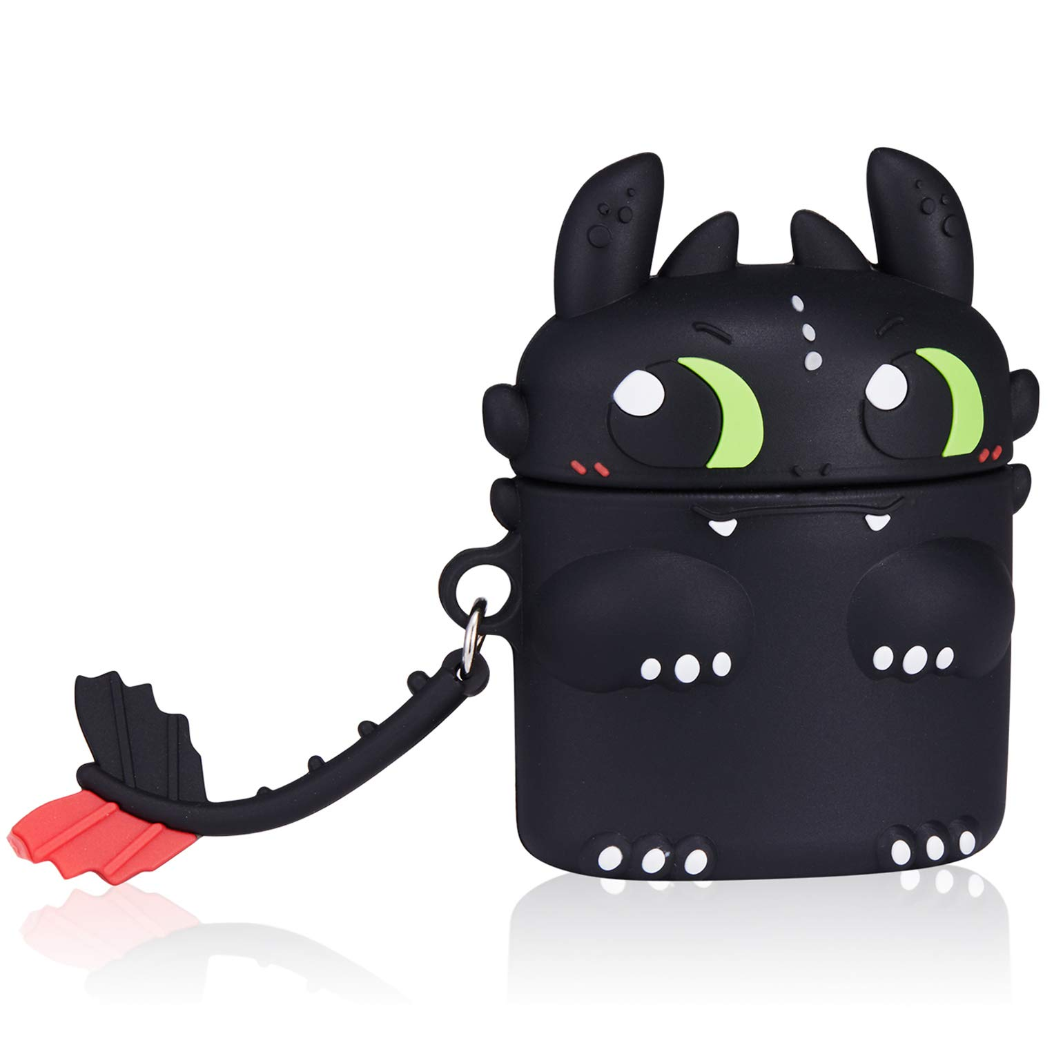 Toothless Dragon-Cute Cartoon Soft Silicone Doll Case For AirPods