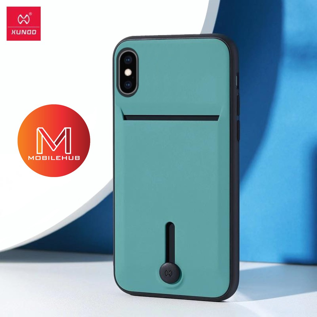 Xundd Shockproof Case with Card holder for iPhone Xs/Cadet Blue