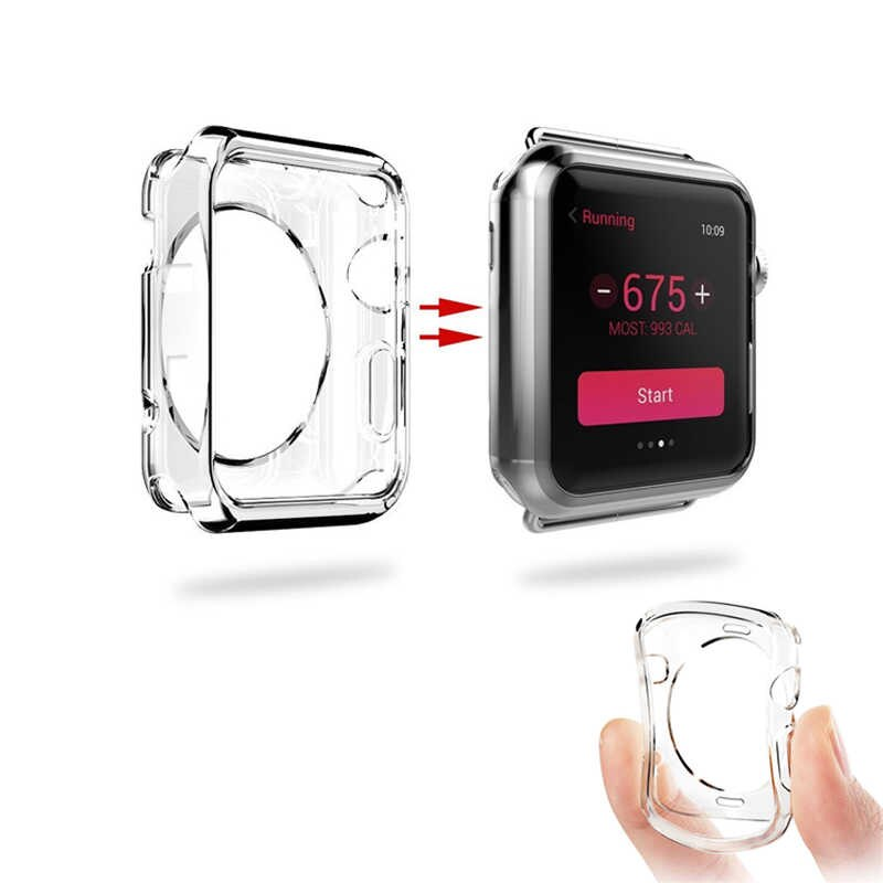 Soft TPU Fram Clear case for Apple Watch 40mm