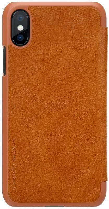 Nillkin QIN leather case for iPhone X -Brown