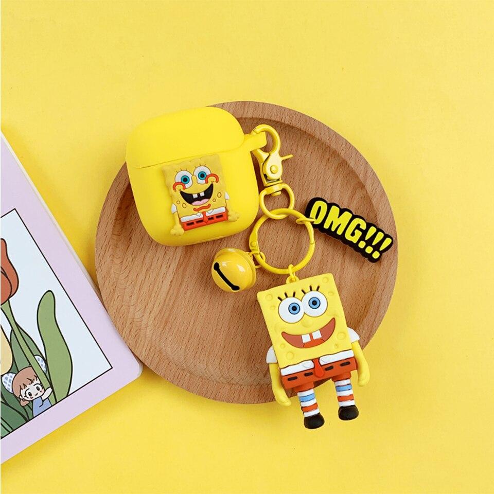 SpongeBob Doll- Cute Cartoon Soft Silicone Doll Case For AirPods 1-2