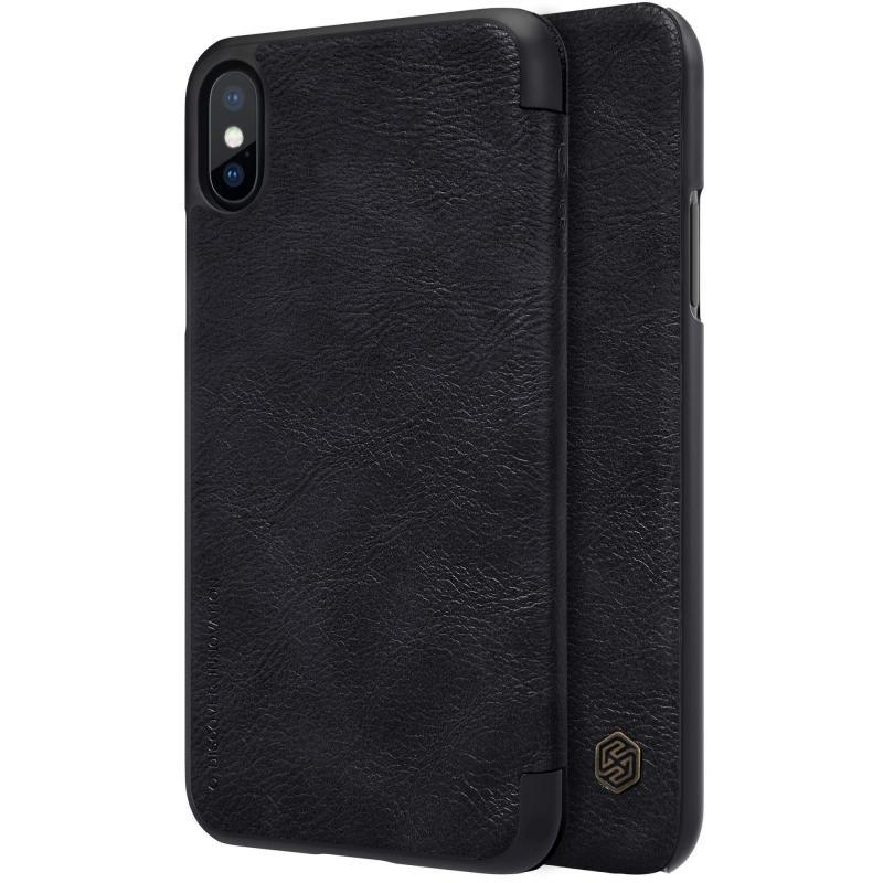 Nillkin QIN leather case for iPhone X -Black
