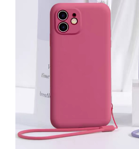 Liquid Silicon Case For iPhone 11 - Pink