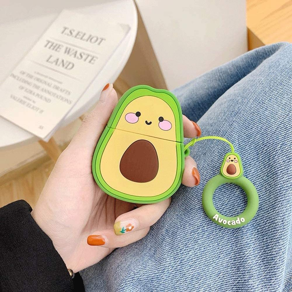 Cute Avocado -Cute Cartoon Soft Silicone Doll Case For AirPods1/2