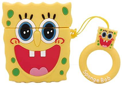 SpongeBob SquarePants- Cartoon Soft Silicone Case For Apple AirPods