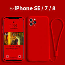 Liquid Silicon Case For iPhone SE/7/8 - Red