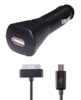 Car Charger for iPhone 4 & Micro USB