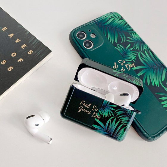 Green Leaf Silicon Case for Airpods Pro
