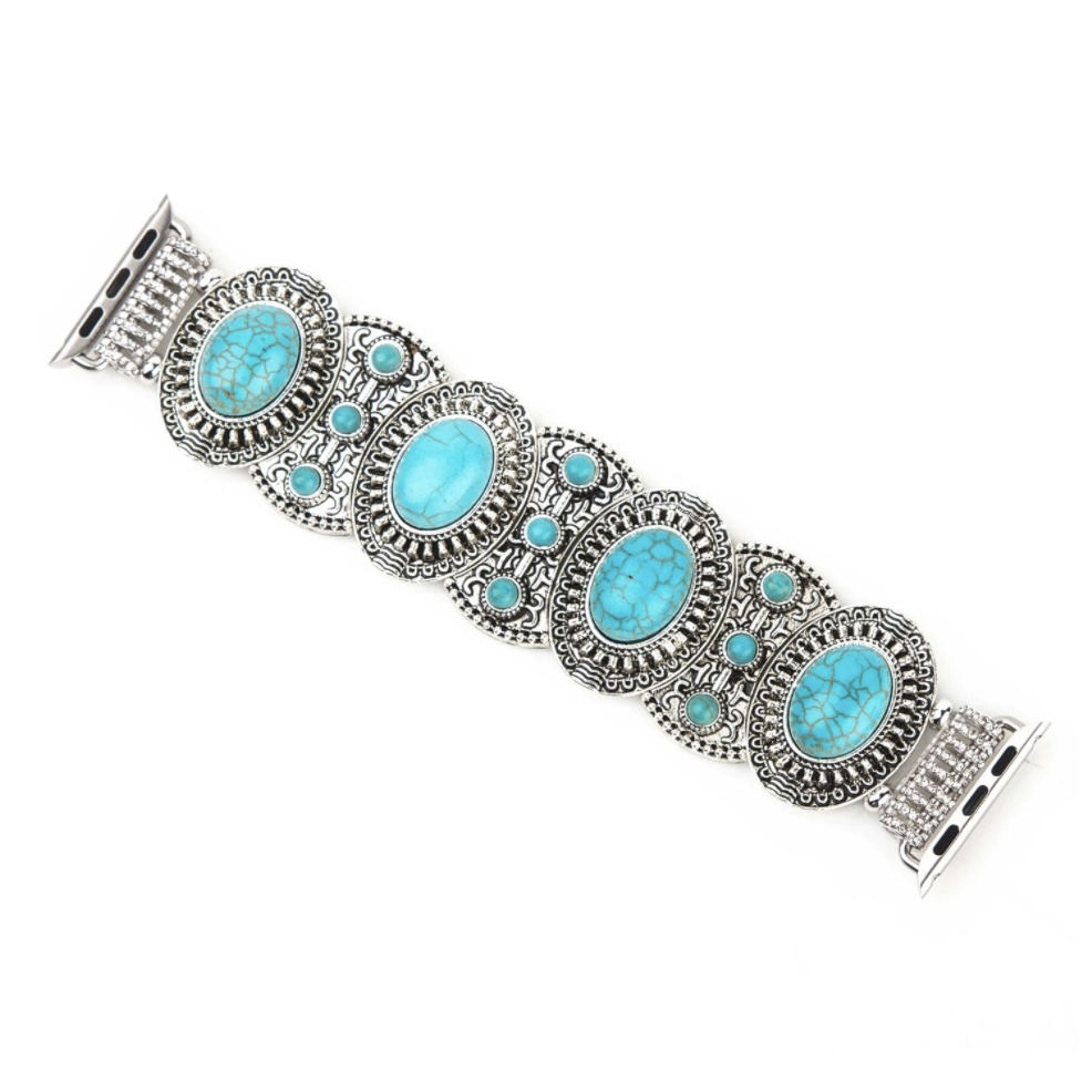 Retro Jewelry Strap for Apple Watch 42/44 mm- Turquiose