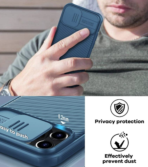 Nilkin CamShiled Pro Case for iPhone 12 pro Max -Blue