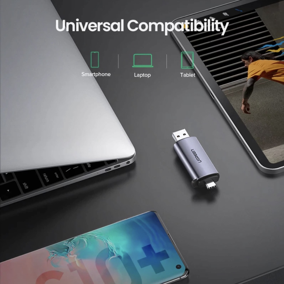 UGreen USB-C/USB-A SD Card Readers -Space Grey