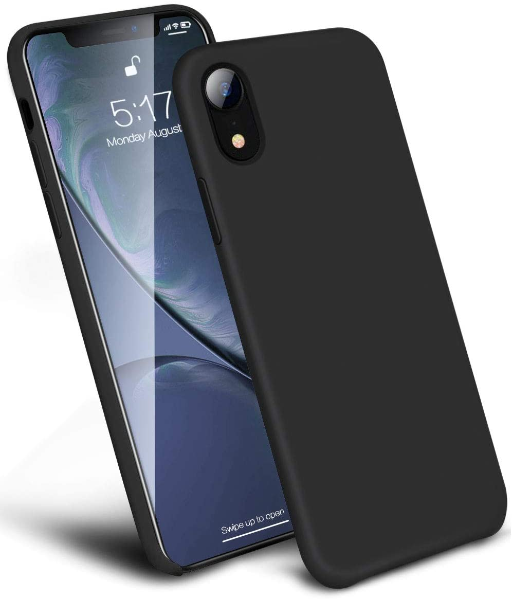 Silicon Thin Case Black For iPhone XR