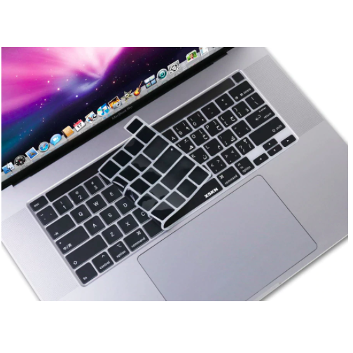 "Arabic Language Keyboard Cover Skin for Macbook Pro 16"" Touch Bar"