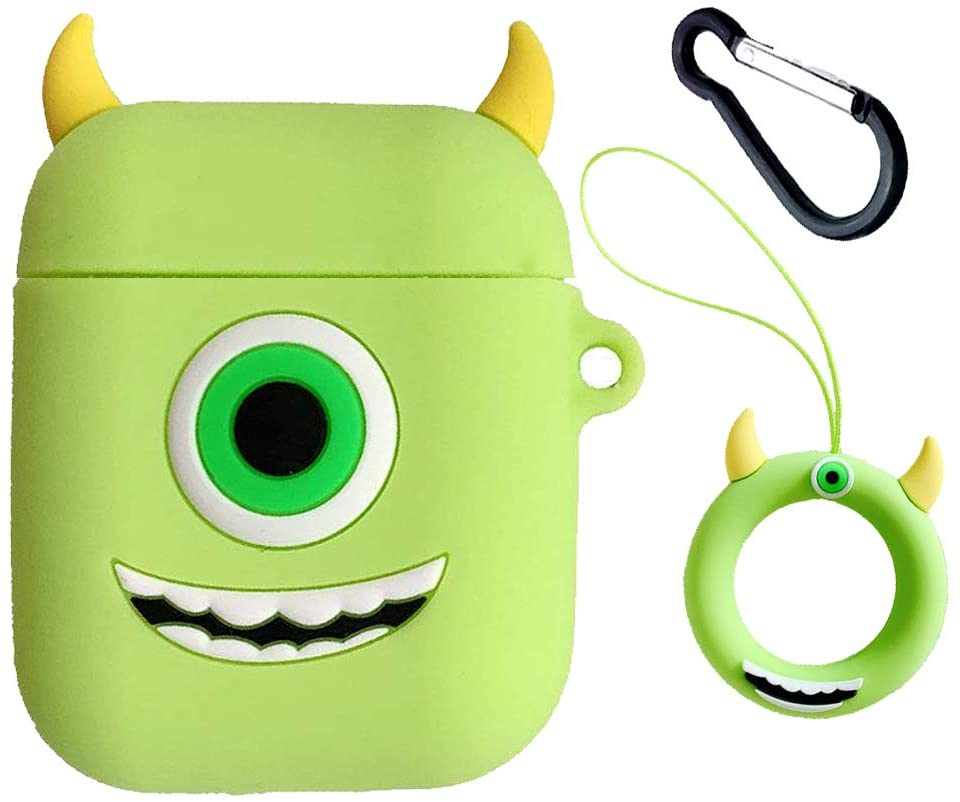 Wazowski Doll- Cute Cartoon Soft Silicone Doll Case AirPods 1/2