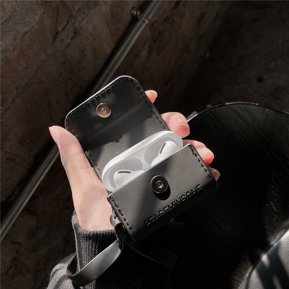 Peaceminusone X fragment Cute Soft Leather Case AirPods Pro
