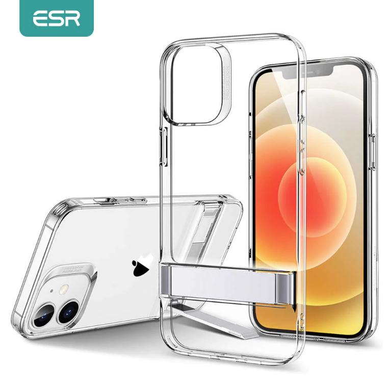 ESR See Through Metal Kickstand Case For iPhone 12 mini