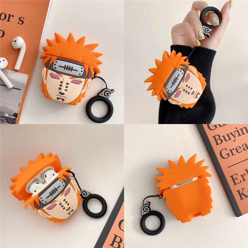 """Pain """"Naruto"""" -Cute Cartoon Soft Silicone Doll Case For Apple AirPods"""