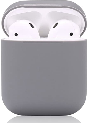 Silicon Case With Straps for Airpods 1/2 - Grey